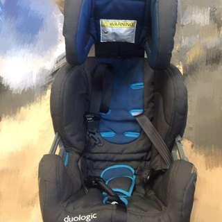 背向car seat