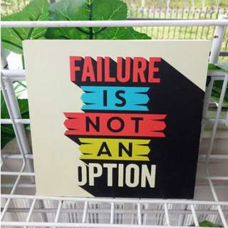 Hiasan Dinding Quotes Failure Home Decoration