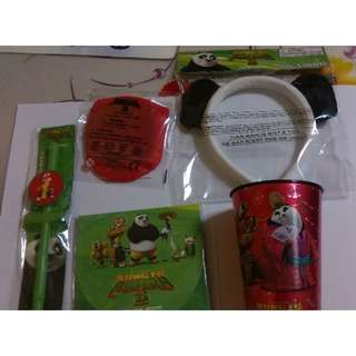 Kung Fu Panda - movie collectibles - Hairband, Straw, Cup, Foldable Flying Disc, Activity Pack