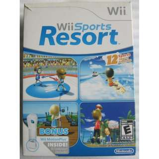 Wii Sports Resort game disc , Wii Remote and Motion Plus Adaptor . unused