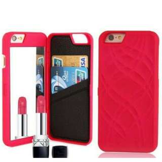 IPhone case with mirror and card slot