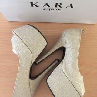 Kara Zapatos High Heel Peep Toe Platform Shoes