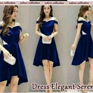 Dress elegant serena blue
