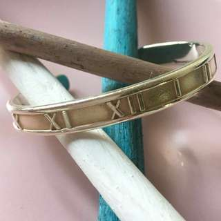 Tiffany & Co. Atlas Bangle 羅馬數字手䤥