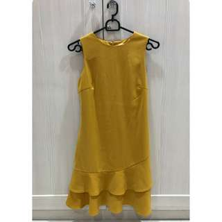 Love Bonito Mustard Dress