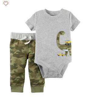 *9M* Brand New Carter's 2-Piece Bodysuit Pant Set  For Baby Boy