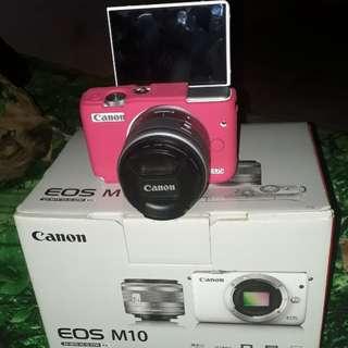 Canon eos M10 white fullset likenew
