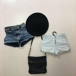 H&M/ F21 high waist shorts