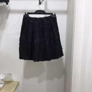 Topshop Black Glittery Skirt