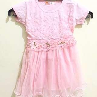 pink dress floral