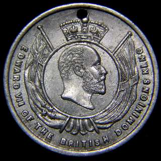 1907年英屬紐西蘭慶祝成為自治領區(Dominion))紀念章(英皇愛德華七世像)