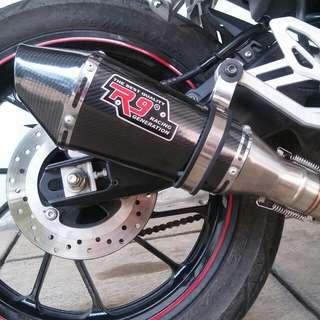 R9 Carbon knalpot racing custom for all 150cc