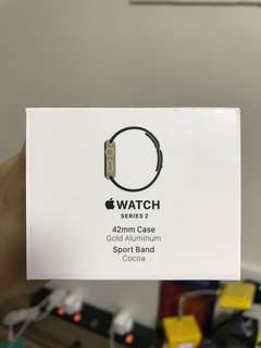 Apple Watch series 2 42mm sport band with apple care+ until October 2018,齊件