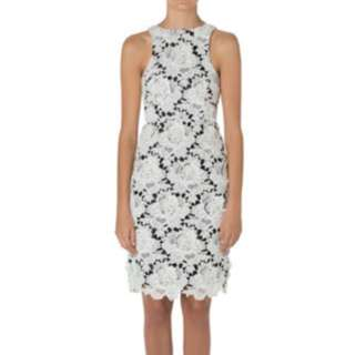 Aje white lacey dress