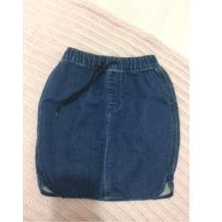 LEE denim skirt size 8