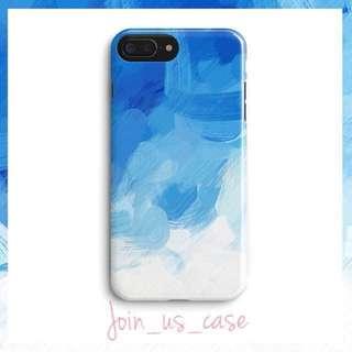 🌤💙漸變淺藍色水彩case.