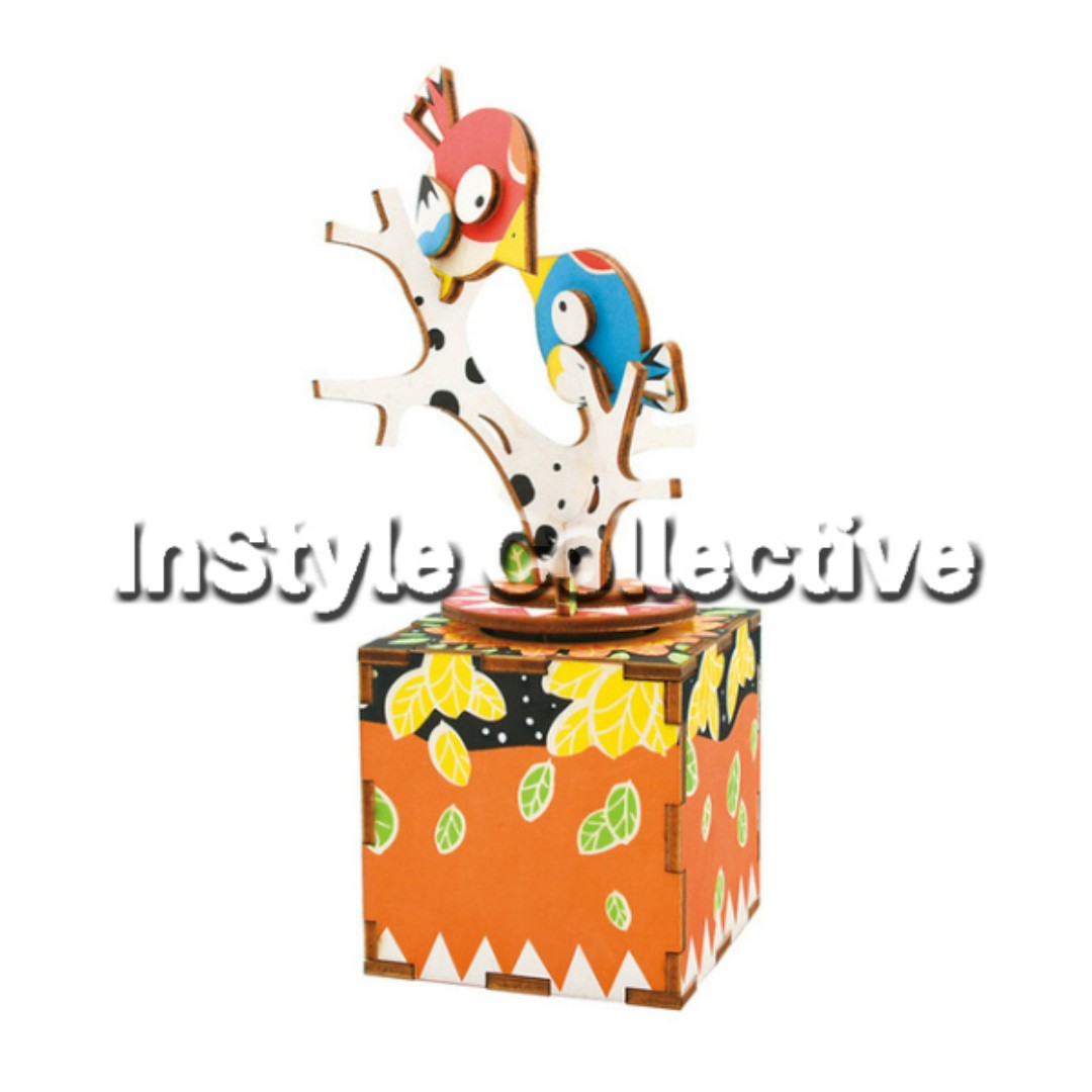 3D DIY Musical Box / Wooden Puzzle - AM301: Birds On The Tree