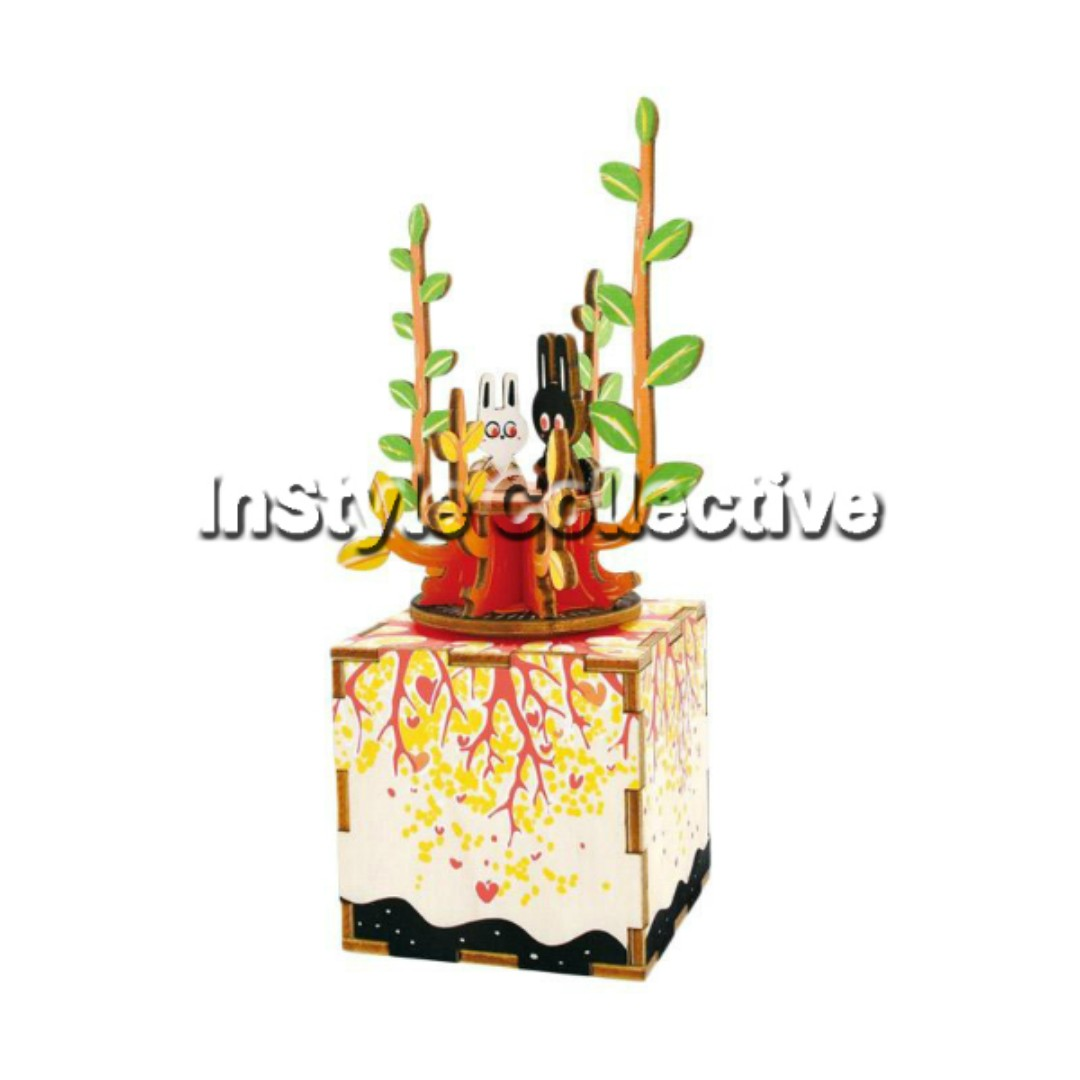 3D DIY Musical Box / Wooden Puzzle - AM302: Spring Blooms