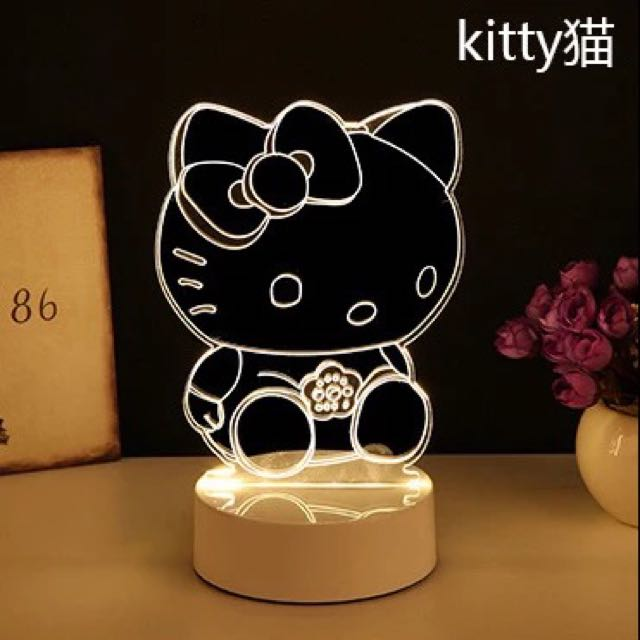 3D Hello Kitty / Paris LED Light Stand