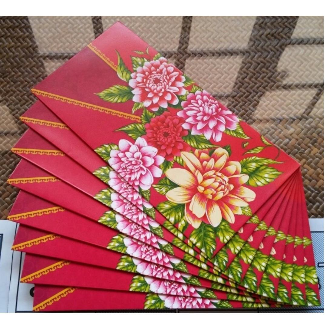 noel 2018 pau 8 pcs NOEL 2018 Colourful Floral Red Packet / Ang Bao Pao Pow Pau  noel 2018 pau