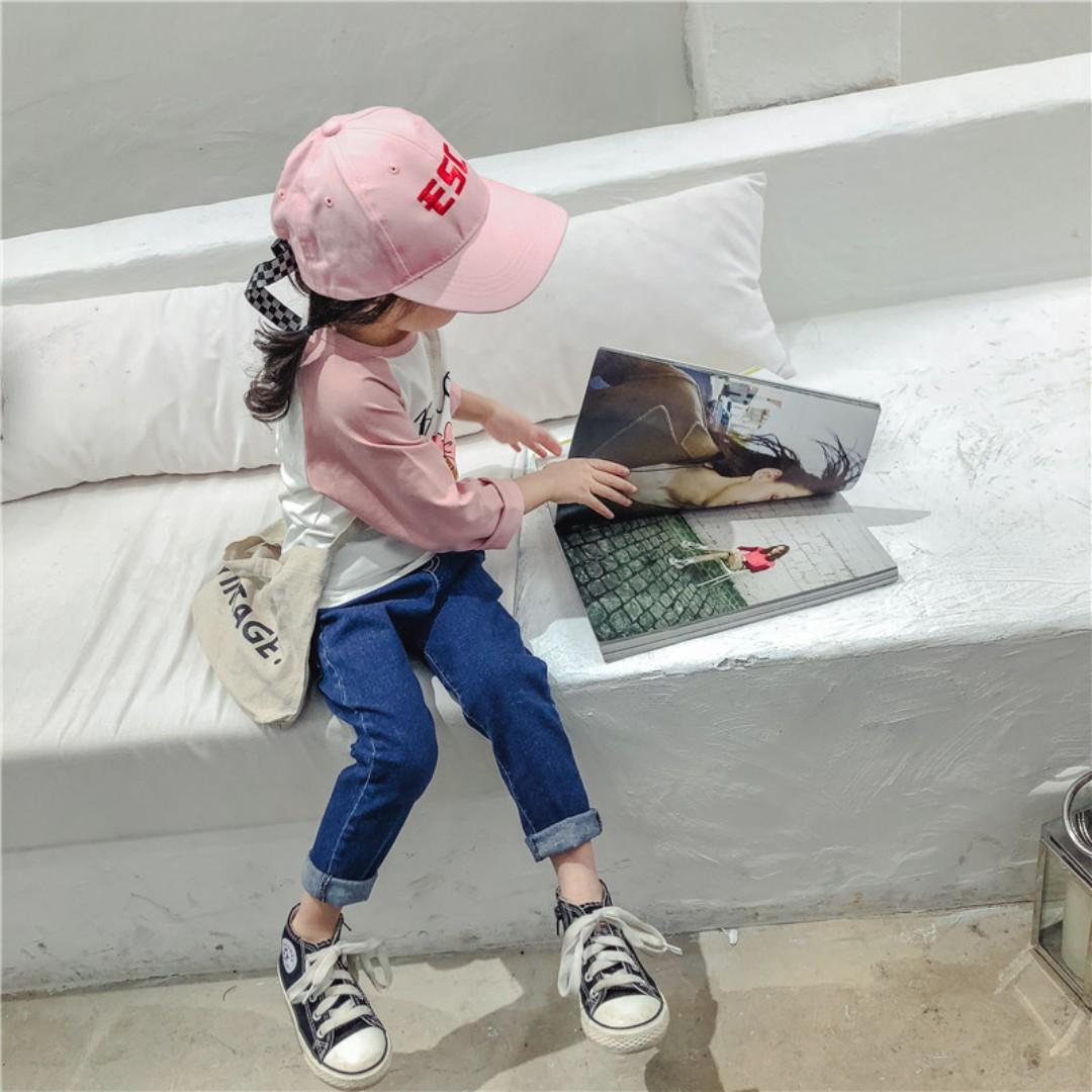 (預購)☑春季中小童純色彈力牛仔褲☑大小童