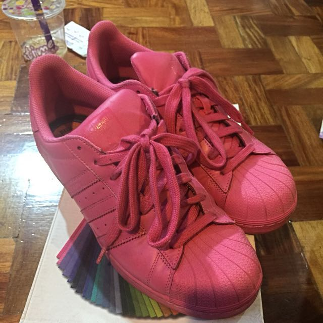 Adidas Superstar Sneakers Rubber Shoes Pink Sz 9.5