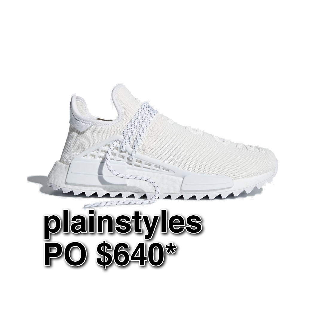 promo code a2188 223fc ALL SIZES] Pharrell x adidas NMD Human Race Trail Cream ...