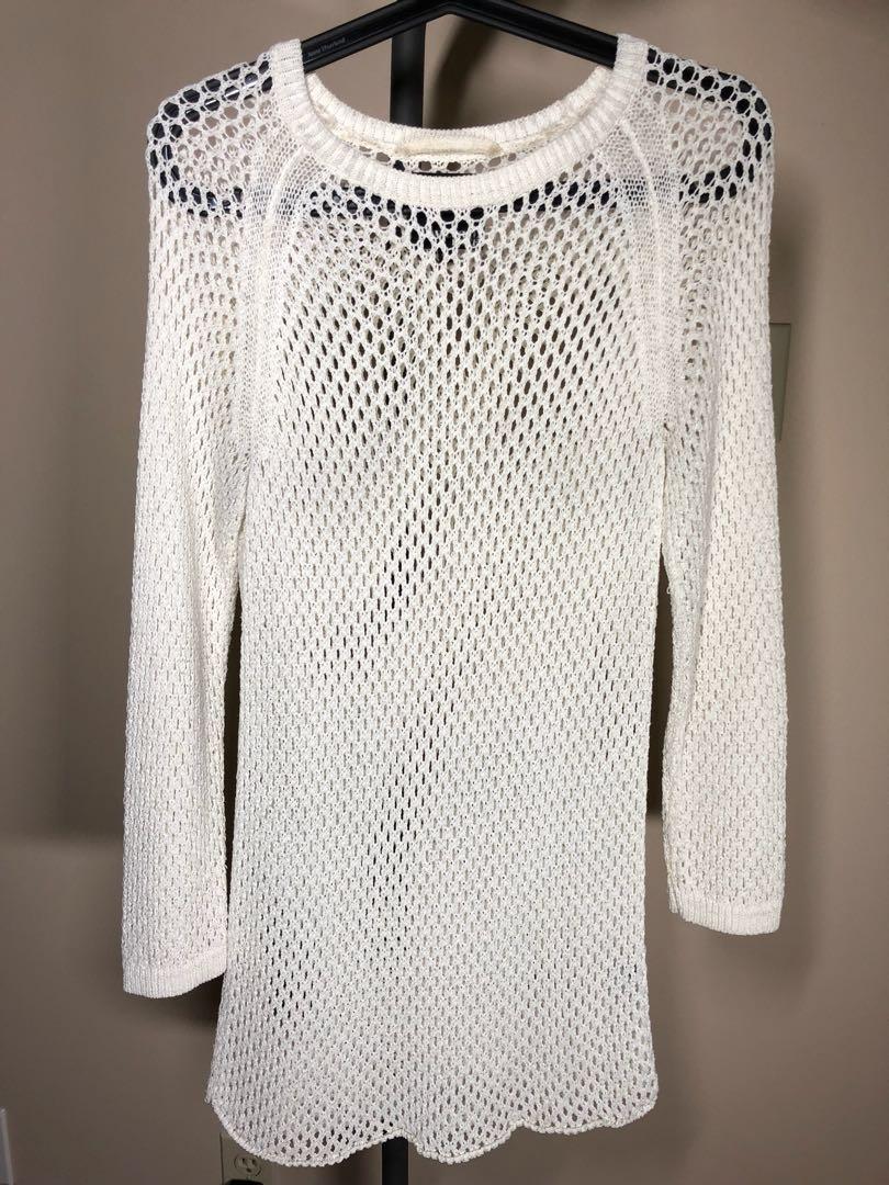 Aritzia Wilfred Free mesh knit dress