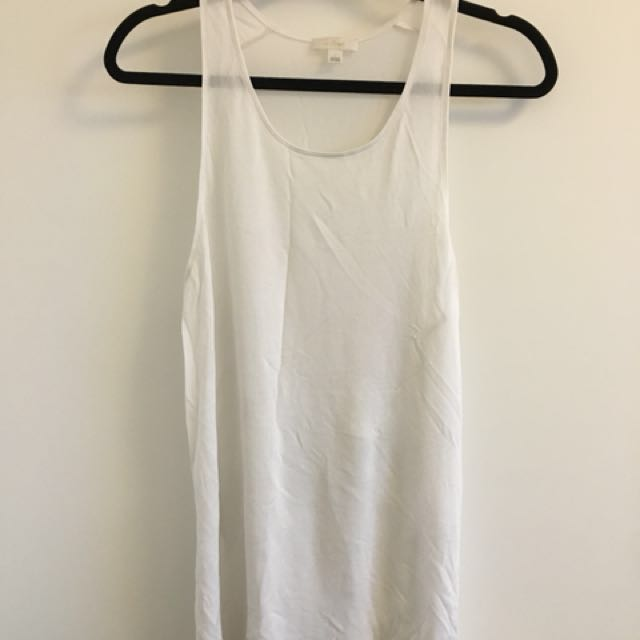 Aritzia Wilfred sheer tank with side slits - large