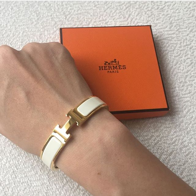 AUTHENTIC HERMES Clic Clac H Bracelet PM