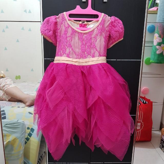 Baby Girl Party Dress Fuschia