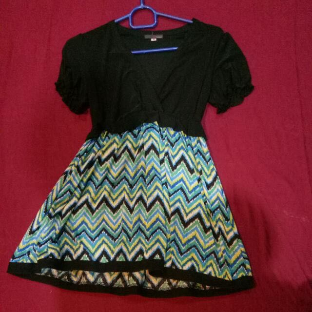 Baju atasan A/T exchange zigzag Top Size S