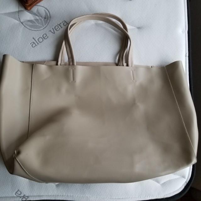 Big leather satchel