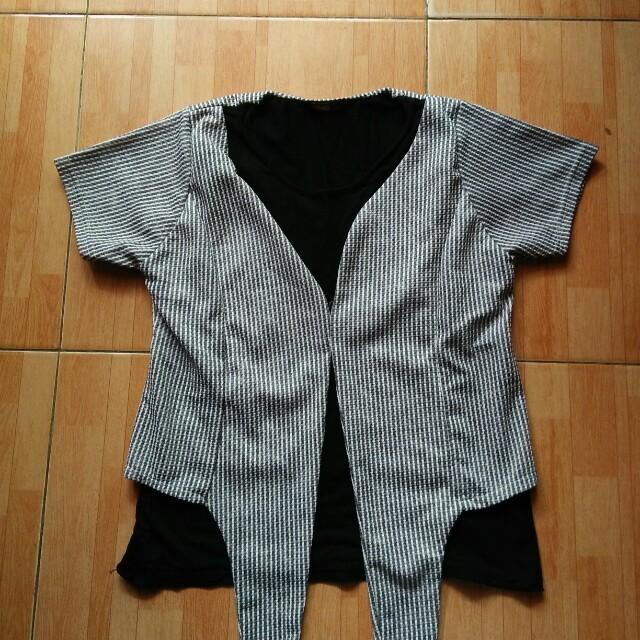 blouse motif garis