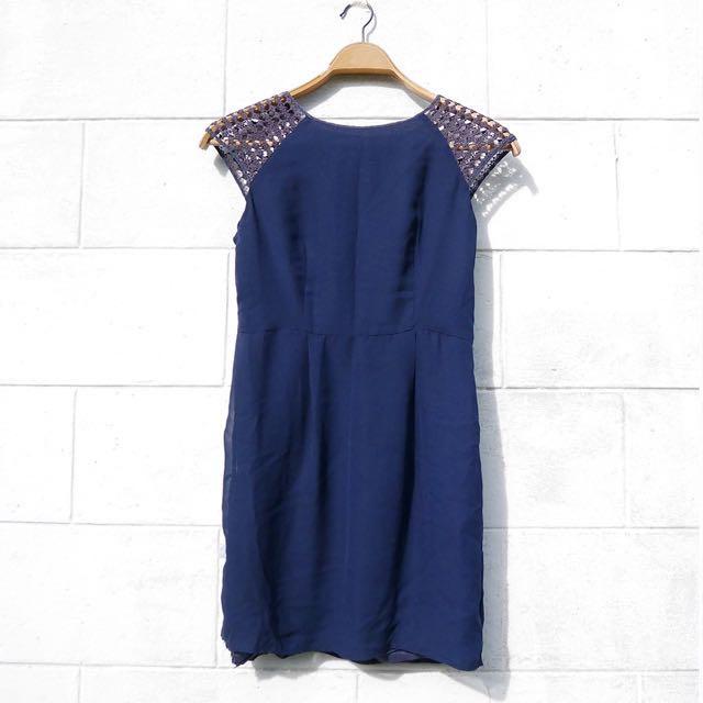 Blue Smart Casual Dress