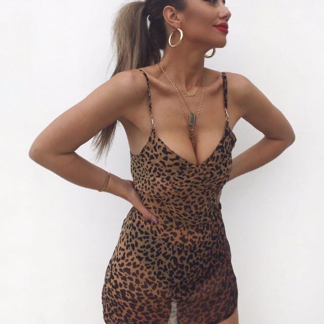 BNWT - Lepord Print Slip Dress
