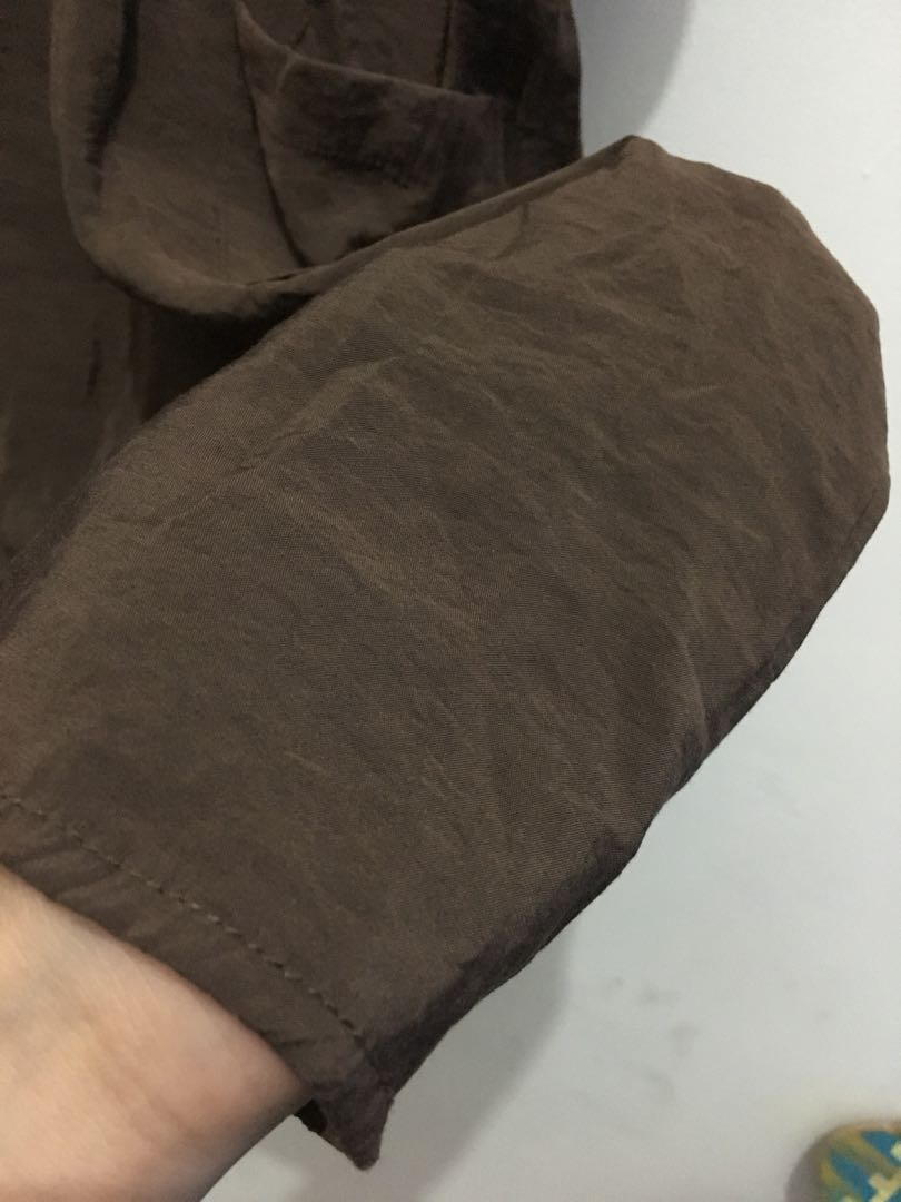 Brown Long Dress Turtle Neck