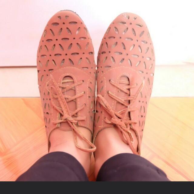 Brown shoes turun HARGAA