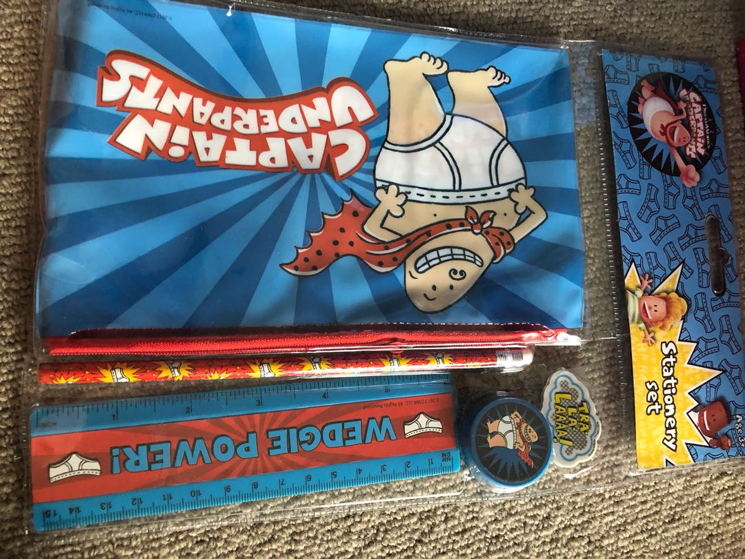Captain Underpants Stationary set