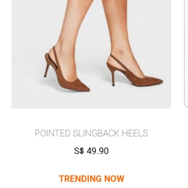afc3d5f4aee Charles   Keith Caramel Slingback heels