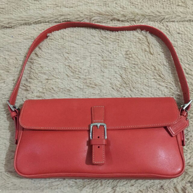 Coach Leather Hand Bag Authentic