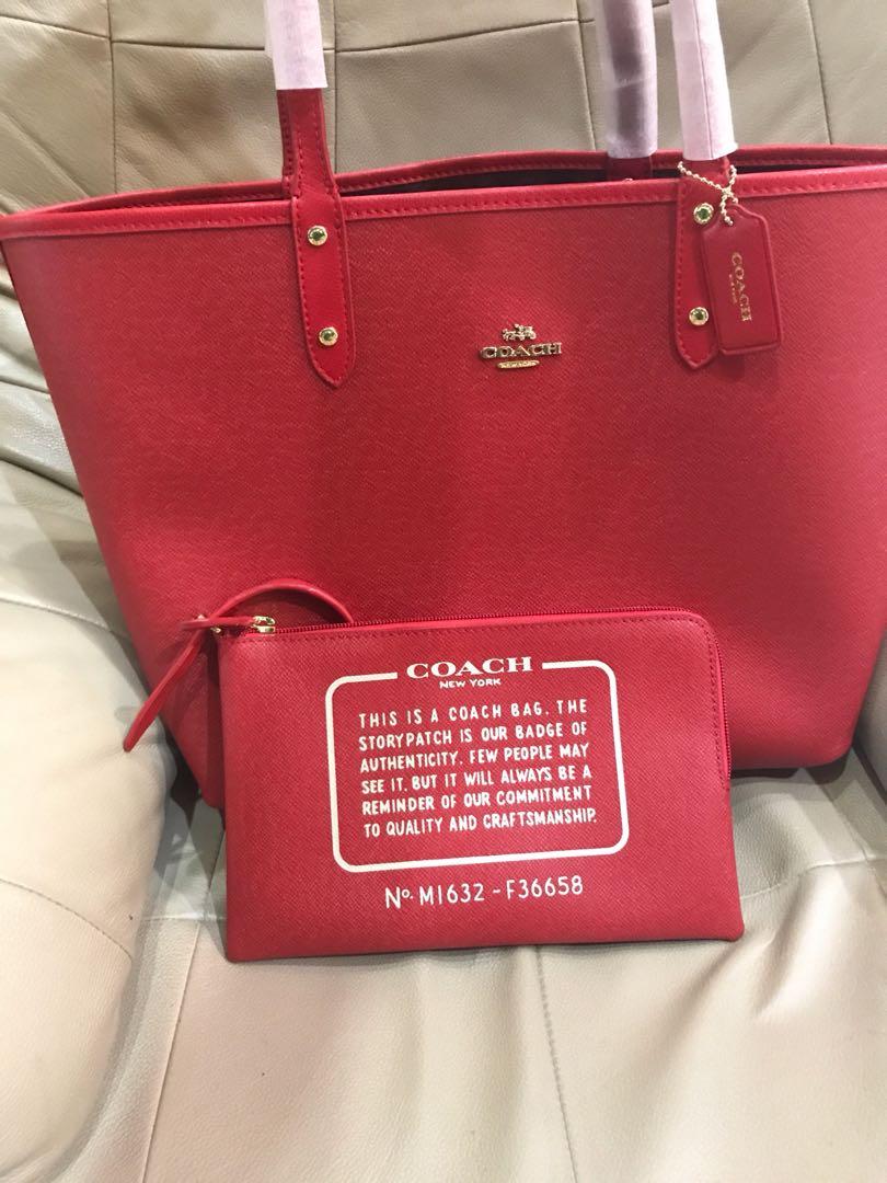 7ada1103b ... canada coach reversible tote shopping bag womens fashion bags wallets  on carousell c1916 d361b
