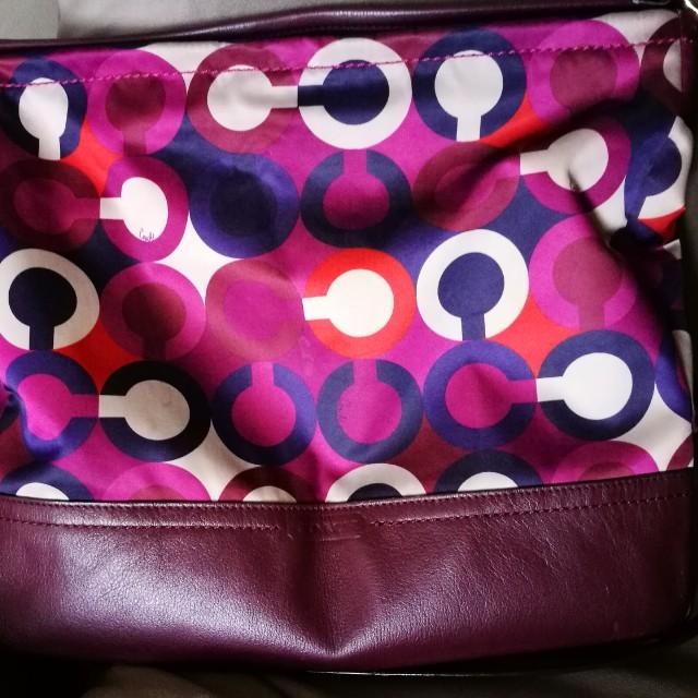 Coach scarf Poppy soft Nylon Leather Bag