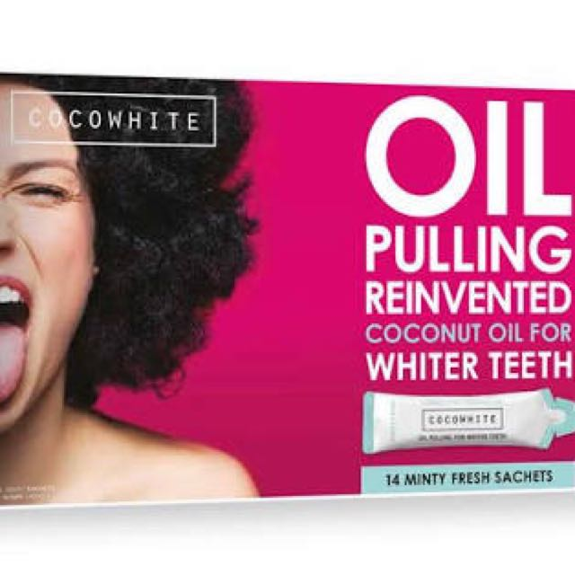 Coco white oil pulling sachets