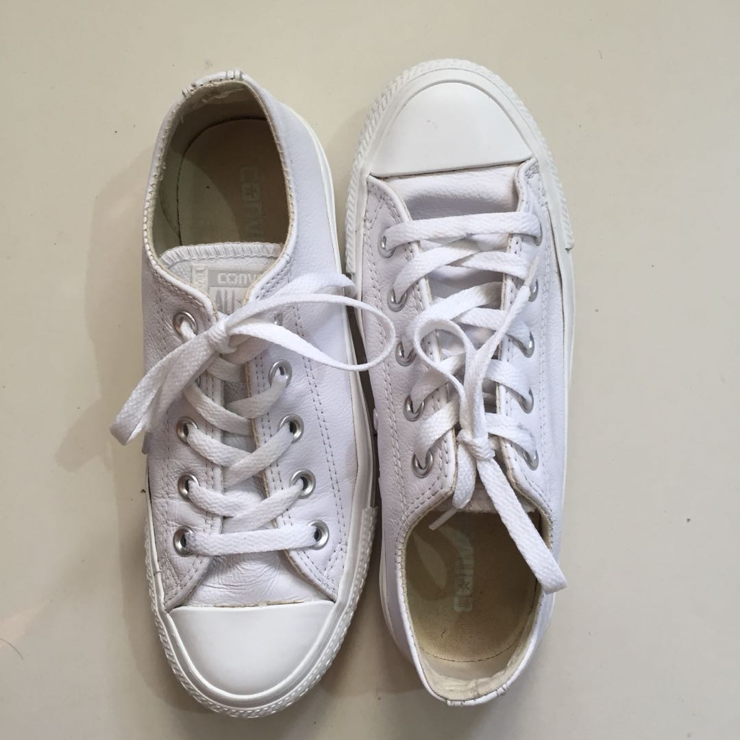 Converse leather ox shoes womens