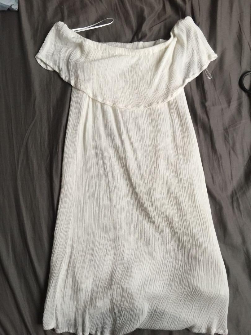 Cotton on white off shoulder dress