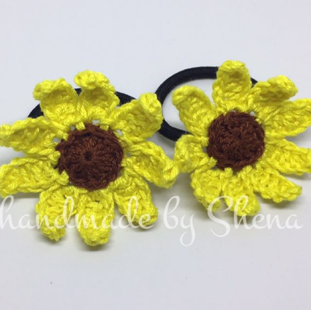 Crochet Sunflower Ponytail (A)