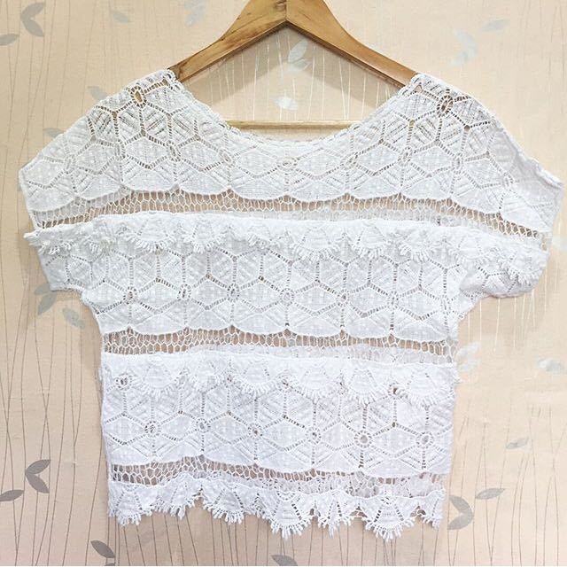 Crochet White hanging top ❤️