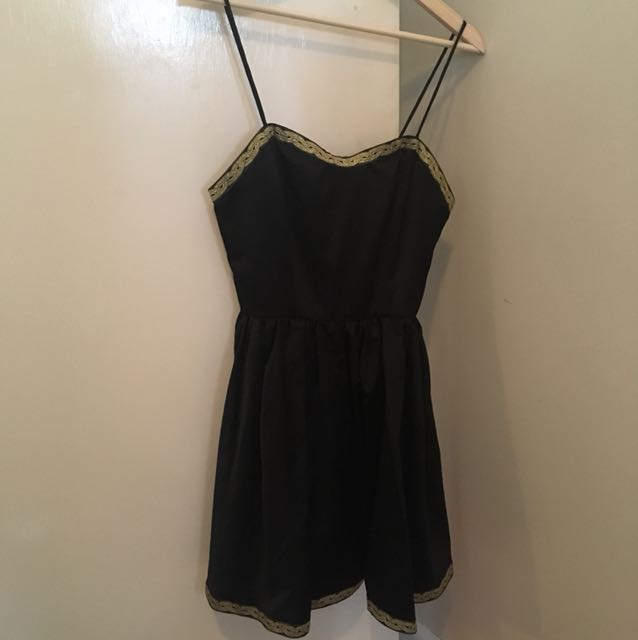 Cute Black and Gold Dress
