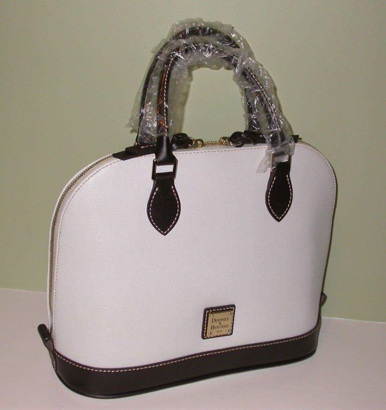 Dooney Bourke Brown Tmoro Zipzip Satchel Womens Fashion Bags